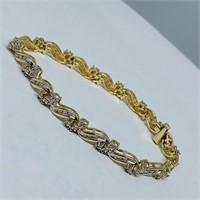 14KT YELLOW GOLD 1.50CTS DIAMOND BRACELET
