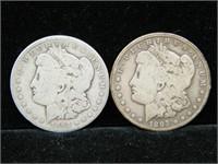 1892-O & 1893 MORGAN SILVER DOLLARS