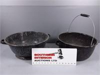 Vintage Enamel Pots (3)
