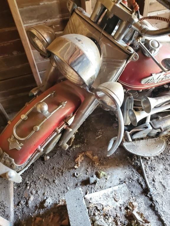 1955 Motorcycle Harley Davidson Pan Head