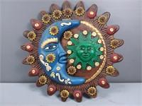 Ceramic Sun & Moon Decor