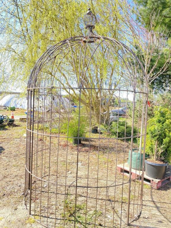 Pinecone half gazebo. 84 inches wide and 10 feet