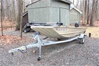 Boat w/Trailer, Utility Trailer, ATV Trailer