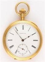 Tiffany & Co. retailed Swiss 18K gold case pocket watch