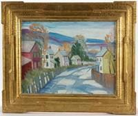 Joseph Barrett (Pennsylvania, b. 1936) o/c landscape painting
