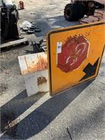Stop Sign & Metal Box
