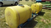 Tractor Carrying  Fertilizer Tanks