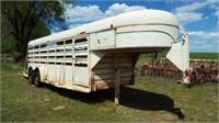 1998 20' x 6' Hale Gooseneck Livestock Trailer