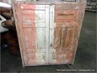 RUSTIC EGYPTIAN PINE DECORATIVE HALF DOOR SET, 49.
