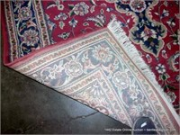 """FLORAL SMALL AREA RUG, 63"""" X 94"""" - RED & BLUE"""