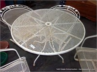 LOT (5): EXPANDED METAL FLORAL PATIO SET, TAB