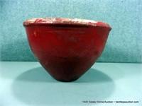RUSTIC EGYPTIAN RED GLAZED TERRA COTTA FLOWER PLAN