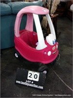 SMALL POLY LITTLE TIKES GIRLS CART - PINK
