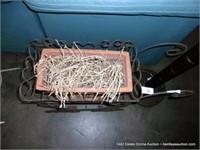 SMALL GAUGE ROD METAL WAGON CART FLOWER