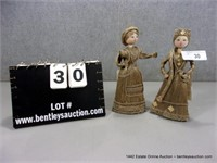 LOT (2): RUSSIAN COTTON THATCH WOVEN FIGURINES (2X