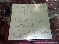 KING SIZE MAUVE / QUEEN SIZE MIXED BEDDING