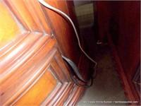 SOS: BURLED OAK ROUND ASPEN HOME 2-DRAWER NIGHTSTA