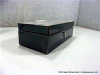 SMALL, METAL COIN CHANGE BOX