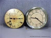 LOT (2):SETH THOMAS WALL CLOCKS, SMALL