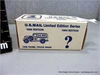 ERTL 1932 UNITED STATES PANEL TRUCK COIN BANK REPL