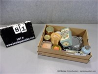 BOX: ASSORTED SPRAY SCENTS & CANDLES