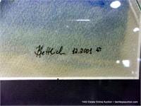 LOT (2): GOLD FRAMED PARIS PRINT & METAL FRAMED WA