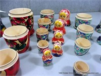 LOT (3): ASSORTED HAND PAINTED RUSSIAN NESTING DOL