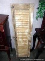 RUSTIC EGYPTIAN PINE SLAT WINDOW SHUTTERS, MIXED S