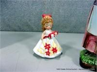 LOT (3): HAND PAINTED JAPAN WOMAN FIGURINE, SMALL