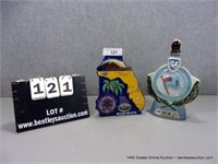 LOT (2): COLLECTOR DECORATIVE WHISKEY BOTTLES, MIA