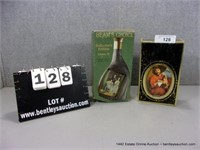 LOT (2): COLLECTOR DECORATIVE WHISKEY BOTTLES, BEA