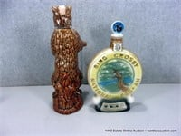 LOT (2): COLLECTOR DECORATIVE WHISKEY BOTTLES, EZR