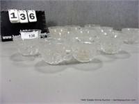 LOT (15): FOSTORIA DIAMOND PATTERN PUNCH GLASSES