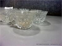 LOT (18): FOSTORIA DIAMOND PATTERN PUNCH GLASSES