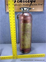 ANTIQUE COPPER & BRASS PYRENE SODA-ACID FIRE EXTIN