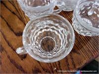 LOT (20): CLEAR FOSTORIA DIAMOND PATTERN PUNCH CUP