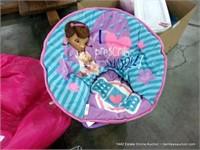 LOT (2): GIRLS SMALL PINK BEAN BAG & SMALL GIRLS F