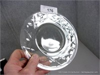 LOT (3): MIXED CLEAR CAKE PLATES, MIXED PATTERN