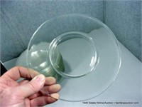 LOT (21): CLEAR NON-ETCHED PLAIN CAKE PLATES
