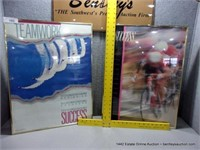 LOT (2): METAL FRAMED MOTIVATIONAL WALL POSTERS