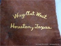 LOT (2): WAY OUT WEST / HOUSTON TX BOOT BAGS