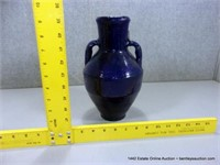 RUSTIC BLUE GLAZED EGYPTIAN TERRA COTTA OLIVE JAR