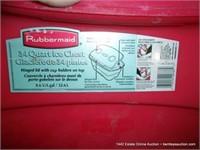 RUBBERMAID 34 QUART QUICK ICE CHEST - RED