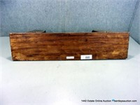 WALNUT WOOD GRAIN RESIN CAST WALL SCONCE SHELF