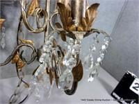 GOLDEN LEAF PAINTED METAL DECORATIVE HANGING LIGHT