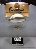 ANTIQUE BRASS OIL LAMP HANGING LIGHT FIXTURE, NO L