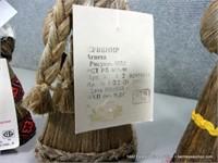 LOT (3): RUSSIAN WOVEN COTTON THATCH DOLLS