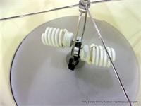 TALL SEGMENTED COLUMN FLOOR LAMP, DAMAGED