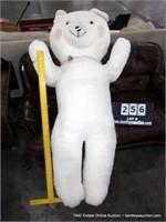 LARGE OVERSTUFFED FAIR WIN WHITE BEAR