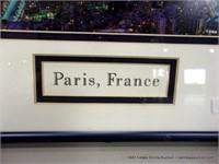 FRAMED PHOTO PANORAMIC PARIS NIGHT SKYLINE